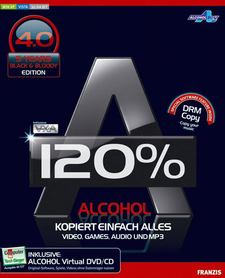 Alcohol 120% 2.0.2 Build 5830 Retail *Cracked-F4CG* (Retail версия!)